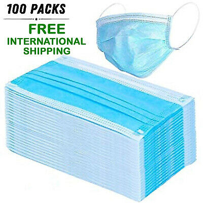 Anti-Bacterial 3 Ply/Layer Disposable Face Mask, Best Quality - 100 Pieces