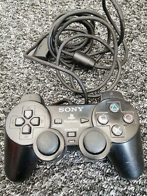 Sony Ps2 Controller official dual shock black playstation 2 Tested Free P+P