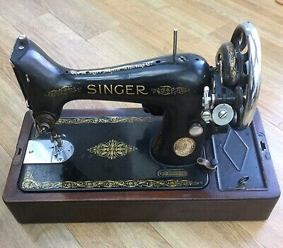 Vintage classic singer sewing sowing machine 99k electric 1937