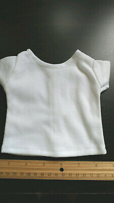 White Blank Plain T-Shirt fits 18inch American Girl Doll Clothes Lot of 5