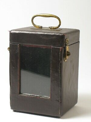 Original Antique Carriage Clock Case recovered in imitation leather