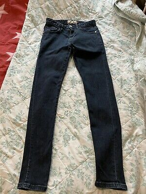 Next Mens Boys Super Skinny Jeans 28R Dark Blue Denim