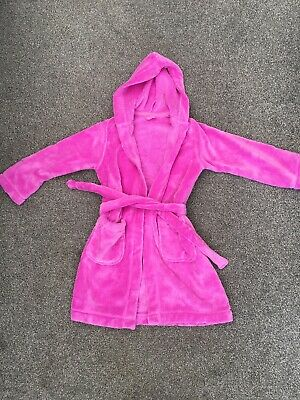 Girls M&S Pink Dressing Gown Age 6 7 Years