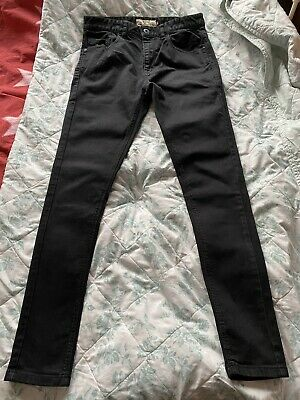 Next Mens Boys Black Super Skinny Jeans 30R