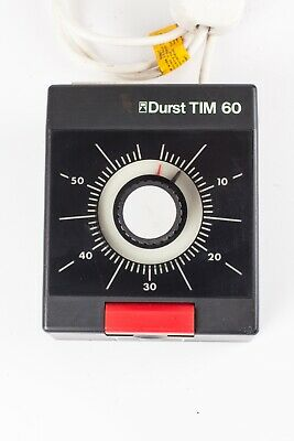 Durst TIM60 Enlarger Timer. Quality, Synchronous Motor Timer in Good Condition