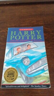 Harry Potter and the Chamber of Secrets by JK Rowling 1st Edition 1st Print PB