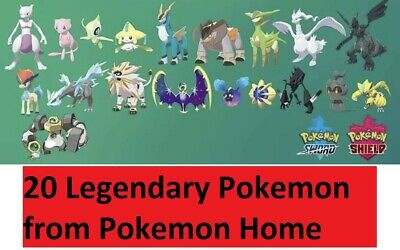 All 20 Legendary Pokemon Going to Your Pokemon Sword/Shield! all w/Master Balls!