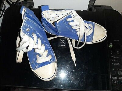 Childrens Next Size 11 High Tops with Zips in blue great condition