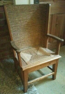 Arts And Crafts Thacked Back Child's Orkney Chair Originally Made For Liberty