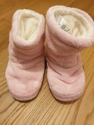 Joules Size Small (8-10) Girls Pink Slippers