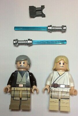 Lego Star Wars Minifigures - Obi Wan Kenobi + Luke Skywalker