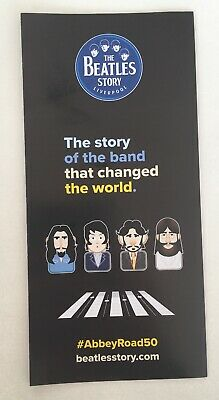 """The Beatles Story Liverpool Flyer """"50 Years Of Abbey Road"""" The Story Of The Band"""