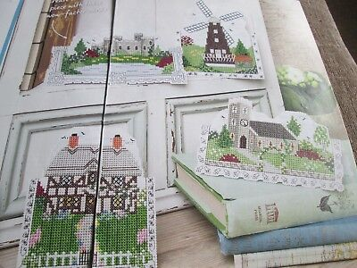 H Meg Evershed 3D Perforated Paper Cards Church Castle Cross Stitch Chart