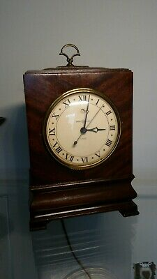 Mahogany  Bracket Clock By GE Striker, Electric