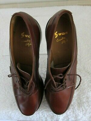 Swan Quinton Country Style - Crockett & Jones Shoes - Brown Leather Size 5