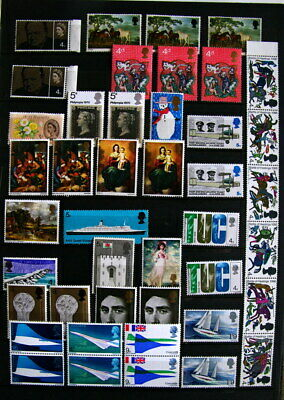 Accumulation of more than 40 new (mint) great britain stamps (MNH).