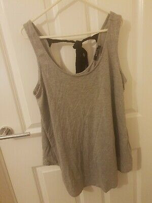 Grey Maternity Top Woth Tie Back Size 16  George size 16