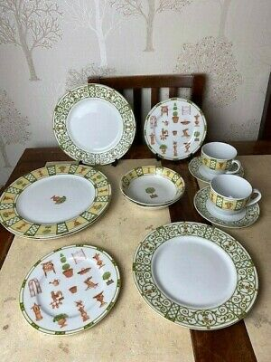 Wedgwood Terrace Home Dinner set for 2 / 10 piece one salad plate chipped