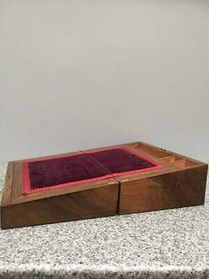 Stunning Antique Vintage Victorian Mahogany Rosewood Campaign Writing Slope Box