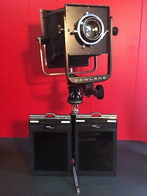 VTG Gowland Camera W/Schneider-Kreznach 135mm Lens & Tripod 4x5 Cut Film Holders