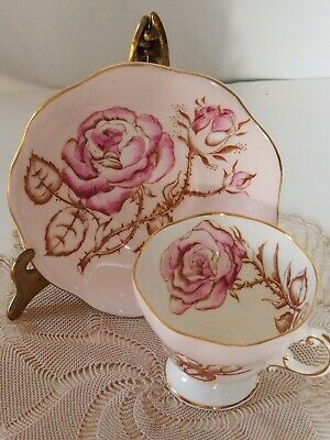 Vintage 1940s Foley Cabbage Rose Tea cup and saucer