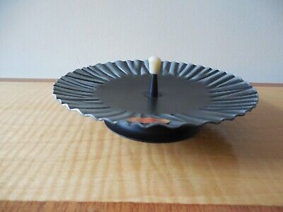 Retro, Arts & Crafts Style, German, Hand Crafted, Footed Candle Plate