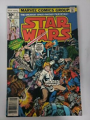 Star Wars # 2 Marvel Comics 1977 Howard Chaykin art/ w/UPC code d5a95