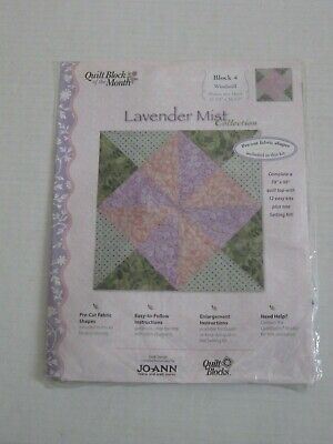 LAVENDER MIST Jo Ann Fabric QUILT BLOCKS OF THE MONTH # 4 windmill