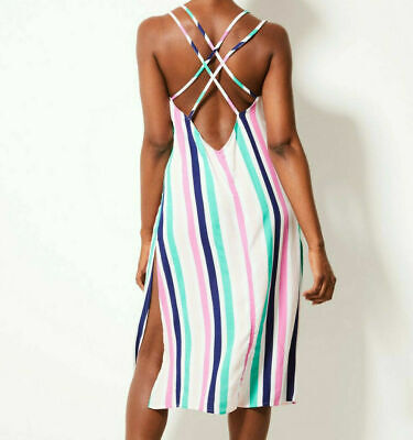Marks & Spencer M&S Beachwear Candy Floss  Strappy Dress Size 14 Bnwt Rrp £18