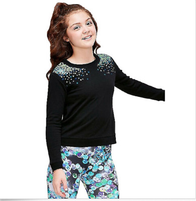 Justice Girls Size 12 Sequin Pullover New With Tags