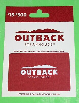 OUTBACK STEAKHOUSE $100 Gift Card - Bonefish Grill - Carrabba's - Fleming's
