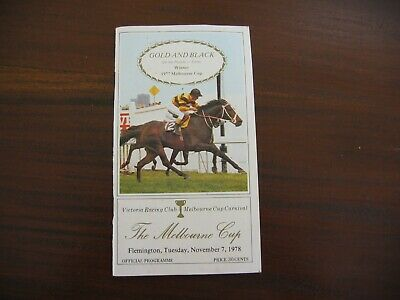 Race Book The Melbourne Cup 1978