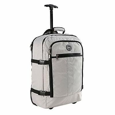 """Cabin Max Carry on Luggage Rolling Backpack with Wheels 22x14x9"""" Stone Grey"""