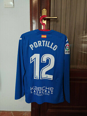 #12 PORTILLO, GETAFE CF Match Worn PLAYER home shirt, used in LFP 2017-18