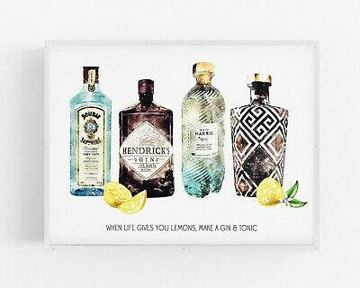 Gin Print,Alcohol Wall Print,Hendricks Wall Art,Kitchen Print,Decor,Dining Room