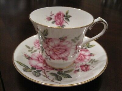 Aynsley Cabbage Rose Coffee cup / Teacup & saucer ~ just beautiful and perfect!
