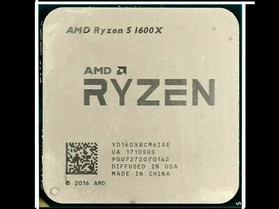 AMD Ryzen 5 1600x 6 core/12 Thread Zen Processor CPU s AM4 Nr 3600.2600