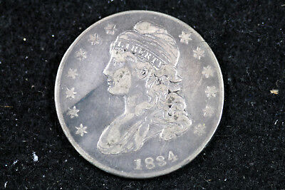 Estate  Find 1834  Capped Bust Half Dollar  #D17562