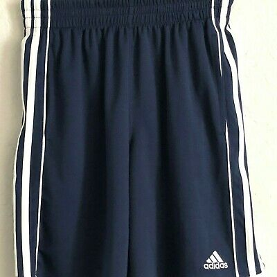 Adidas Boys Navy Blue with white Strip BasketBall Shorts Size L 14/16 NWOT