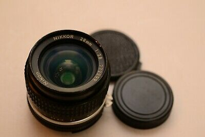 Nice Nikkor 28mm 2.8 Ai-s Wide-angle Lens in Nikon F Ai Mount CRC version