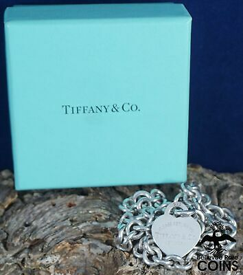 Tiffany & Co. Sterling Silver (.925) Heart Please Return To Tag Necklace w/ Box