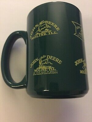 John Deere Green Coffee Mug From Moline Illinois