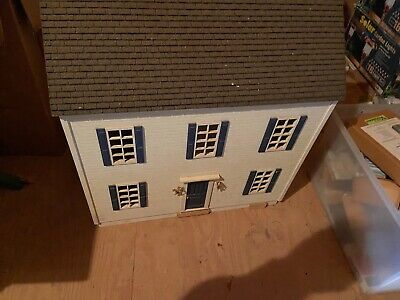 Antique wooden doll house hand made with furniture