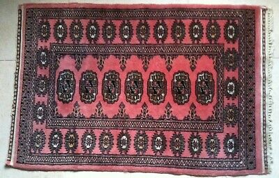 """Small Oriental? Asian? Rug approx 25.5 """" x 38"""" Hand-Woven? Silk? Antique?"""