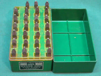 """Mecco Safety Wedge Grip 3/64""""  27 Pc  Steel Stamp Letter Set"""
