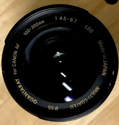 Quantaray 100-300mm f/4.5-6.7 LDO Lens For Canon AF, Padded Case, One Cap, NICE