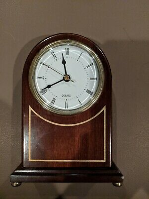 """BOMBAY COMPANY~ WOODEN MANTLE CLOCK 11"""". Excellent Working Condition"""