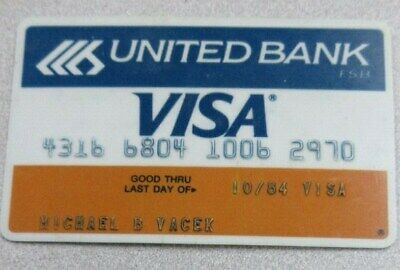 Vintage United Bank Visa Card exp 1984 - collectors