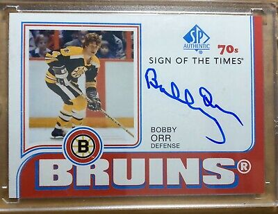 2018-2019 UD SP Authentic Sign Of The Times 70's Bobby Orr Bruins Auto Autograph