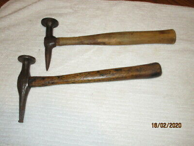 2 Antique Pick And Round Head Auto Body Hammers - 1 Is A Fairmont 158G